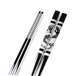 Korejské laserované hůlky s drakem