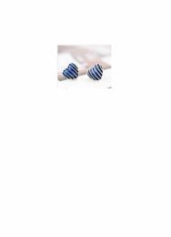 Srdíčka s proužky, modré barvy